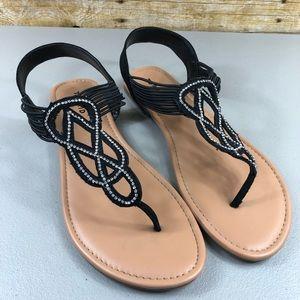 Torrid Black jeweled Sandals
